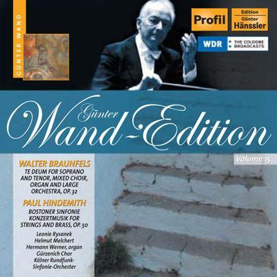 弦楽と金管のための協奏音楽、他 ヴァント&ケルン放送交響楽団