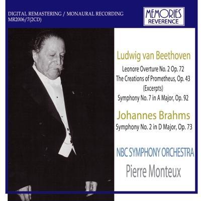 ベートーヴェン:交響曲第7番、ブラームス:交響曲第2番 モントゥー&NBC交響楽団(2CD)