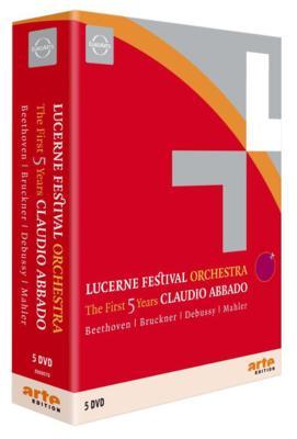 ルツェルン祝祭管弦楽団5周年セット アバド&ルツェルン祝祭管弦楽団、ブレンデル、ポリーニ(5DVD)