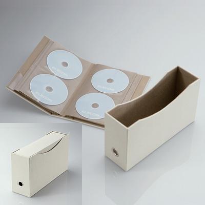 DVD/CDファイル(72枚収納) CCD-034BE(ベージュ)