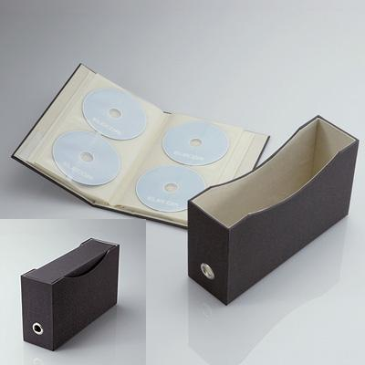 DVD/CDファイル(72枚収納) CCD-034BK(ブラック)