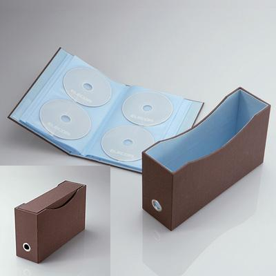 DVD/CDファイル(72枚収納) CCD-034BR(ブラウン)