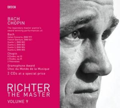 バッハ:イタリア協奏曲、フランス風序曲、ショパン:練習曲集、他 リヒテル(2CD)