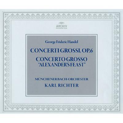 合奏協奏曲集 作品6、『アレグザンダーの饗宴』 リヒター&ミュンヘン・バッハ管弦楽団(3CD)