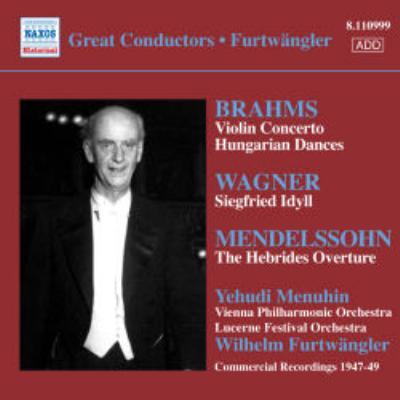 ヴァイオリン協奏曲、他 メニューイン(vn)フルトヴェングラー&ルツェルン祝祭管弦楽団、他