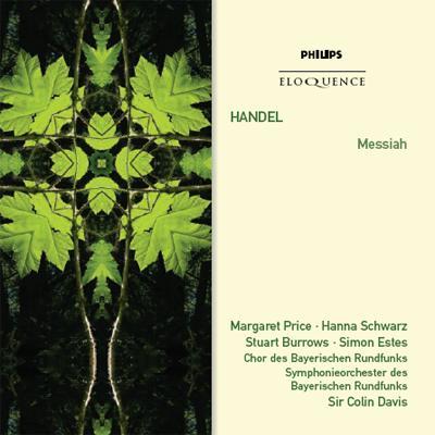 『メサイア』全曲 コリン・デイヴィス&バイエルン放送交響楽団(2CD)