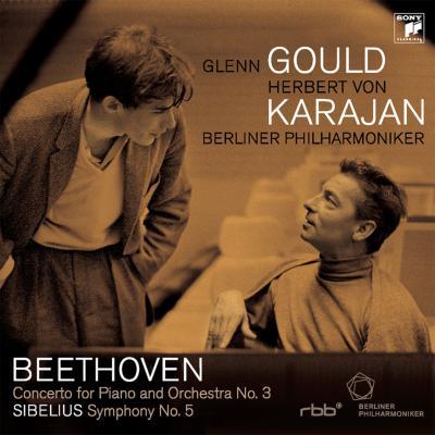 ベートーヴェン:ピアノ協奏曲第3番、シベリウス:交響曲第5番 グールド、カラヤン&ベルリン・フィル(演奏会プログラムPDFファイル収録)