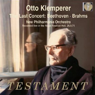 オットー・クレンペラー・ラスト・コンサート〜ブラームス:交響曲第3番、他 ニュー・フィルハーモニア管弦楽団(2CD)