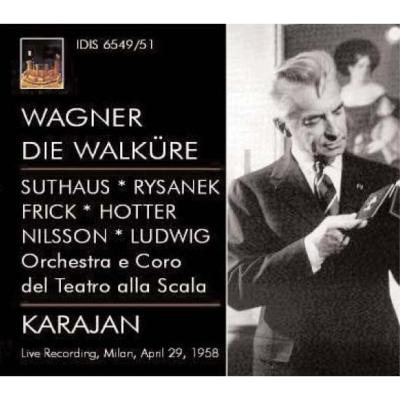 『ワルキューレ』全曲 カラヤン&スカラ座、ニルソン、ホッター、他(1958 モノラル)(3CD)