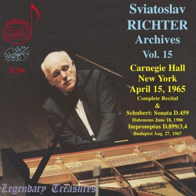 リヒテル/カーネギー・ホール・リサイタル1965(2CD)