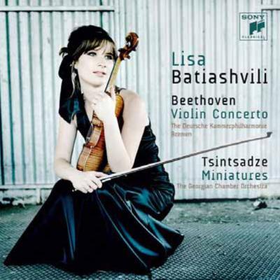 ベートーヴェン:ヴァイオリン協奏曲、ツィンツァーゼ:6つの小品 バティアシヴィリ、ドイツ・カンマーフィル、グルジア室内管