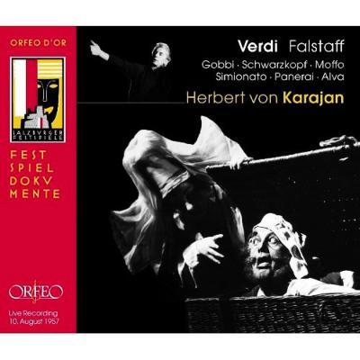 『ファルスタッフ』全曲 カラヤン&ウィーン・フィル、ゴッビ、シュヴァルツコップ、他(1957 モノラル)(2CD)