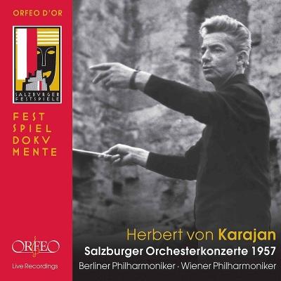 1957年ザルツブルク音楽祭オーケストラ・コンサート集 カラヤン&ベルリン・フィル、ウィーン・フィル(4CD)