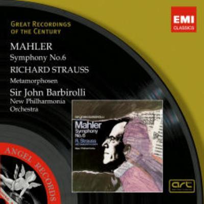 マーラー:交響曲第6番、R.シュトラウス:メタモルフォーゼン バルビローリ&ニュー・フィルハーモニア管(2CD)