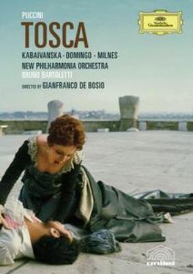『トスカ』全曲 デ・ポジオ演出、バルトレッティ&ニュー・フィルハーモニア管、カバイヴァンスカ、ドミンゴ、他(1976 ステレオ 日本語字幕付)(DVD)
