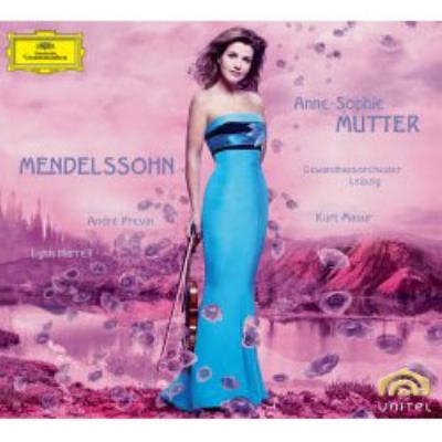 ヴァイオリン協奏曲、ピアノ三重奏曲第1番、ヴァイオリン・ソナタ ムター、マズア&ゲヴァントハウス管、プレヴィン、ハレル(CD+DVD)