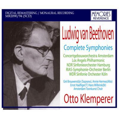 Comp.symphonies: Klemperer / Cologne Rso Berlin Rso Lapo Concertgebouw O Ndr So