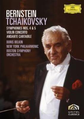 交響曲第4番、第5番、ヴァイオリン協奏曲、アンダンテ・カンタービレ バーンスタイン&ニューヨーク・フィル、ボストン響、ベルキン