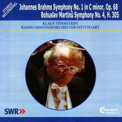 ブラームス:交響曲第1番、マルティヌー:交響曲第4番 テンシュテット&シュトゥットガルト放送響