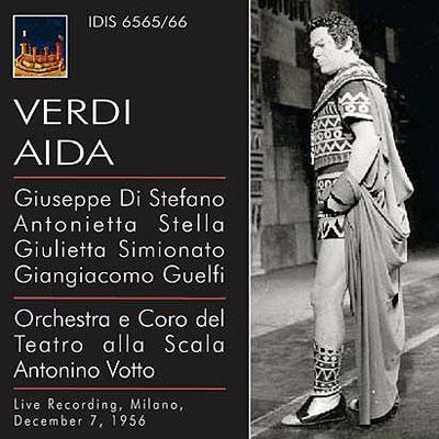 『アイーダ』全曲 ヴォットー&スカラ座、ディ・ステーファノ、ステッラ、他(1956 モノラル)(2CD)