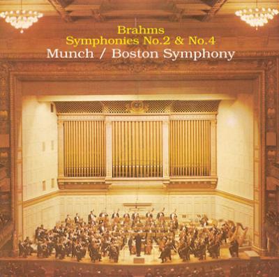 交響曲第2番、第4番 ミュンシュ&ボストン交響楽団(限定盤)