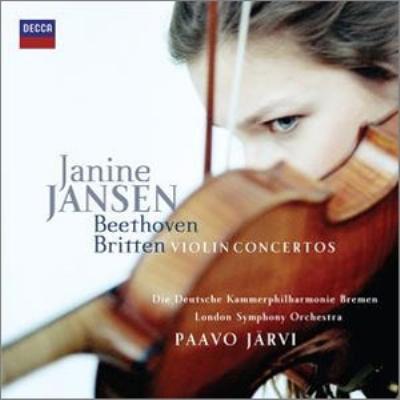 ベートーヴェン:ヴァイオリン協奏曲、ブリテン:ヴァイオリン協奏曲 ヤンセン、P.ヤルヴィ&ドイツ・カンマーフィル、ロンドン響