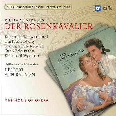 『ばらの騎士』全曲 カラヤン&フィルハーモニア管、シュヴァルツコップ、ルートヴィヒ、他(1956 ステレオ)(3CD)