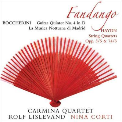 ボッケリーニ:ギター五重奏曲第4番、『マドリードの通りの夜の音楽』オリジナル版、ハイドン:『騎士』、『セレナード』 カルミナ四重奏団、リズレヴァンド