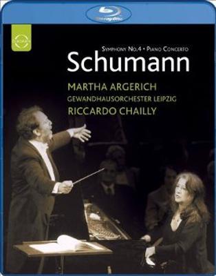 ピアノ協奏曲、交響曲第4番、他 アルゲリッチ、シャイー&ゲヴァントハウス管弦楽団