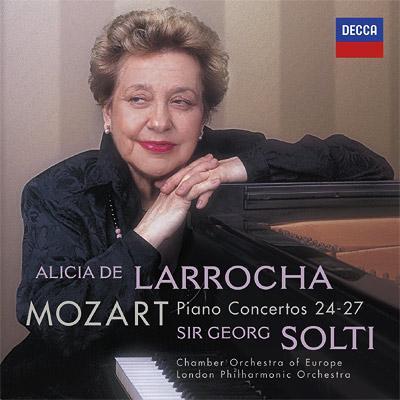 ピアノ協奏曲第24、25、26、27番 ラローチャ、ショルティ&ヨーロッパ室内管、ロンドン・フィル(2CD)