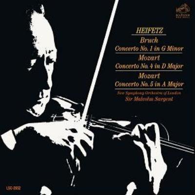 モーツァルト:ヴァイオリン協奏曲第4番、第5番、ブルッフ:ヴァイオリン協奏曲第1番 ハイフェッツ、サージェント&ロンドン新響、他