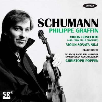 シューマン:チェロ協奏曲(ヴァイオリン版)、ヴァイオリン・ソナタ第2番、クララ・シューマン:3つのロマンス グラファン、ポッペン&ドイツ放送フィル、他