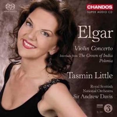 ヴァイオリン協奏曲(1916年版カデンツァ付)、『インドの王冠』間奏曲、『ポローニア』 T.リトル、A.デイヴィス&スコティッシュ・ナショナル管