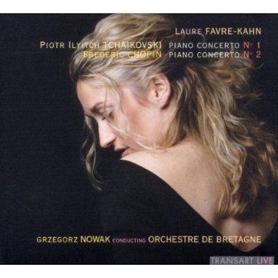 チャイコフスキー:ピアノ協奏曲第1番、ショパン:ピアノ協奏曲第2番 ファヴル=カーン、G.ノヴァーク&ブルターニュ管