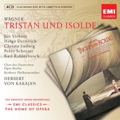 『トリスタンとイゾルデ』全曲 カラヤン&ベルリン・フィル、ヴィッカーズ、デルネシュ、他(1971〜72 ステレオ)(4CD)