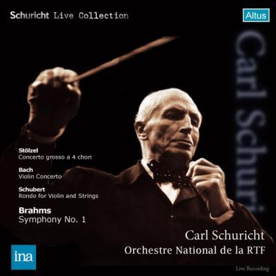 ブラームス:交響曲第1番、バッハ:ヴァイオリン協奏曲第2番、シューベルト:ロンド、他 シューリヒト&フランス国立放送管、グリュミオー(1959)(2CD)