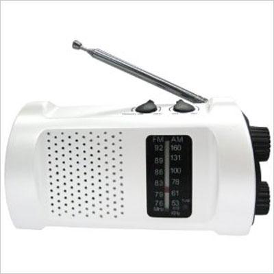 くるくる回して充電くん -携帯充電機能付ダイナモラジオライト-