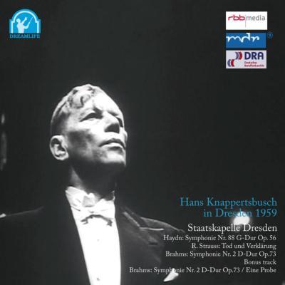 ブラームス:交響曲第2番(+リハーサル音源)、ハイドン:V字、シュトラウス:死と変容 クナッパーツブッシュ&シュターツカペレ・ドレスデン(1959)(3CD)