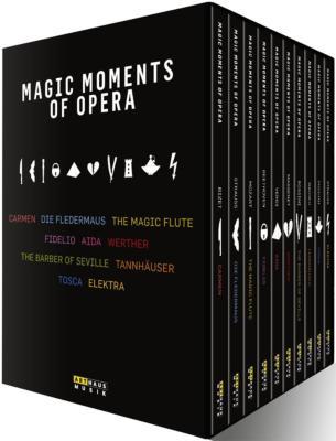 10のオペラ全曲〜カルメン(クライバー指揮)、フィデリオ(アーノンクール指揮)、アイーダ(マゼール指揮)、エレクトラ(アバド指揮)、他(11DVD)
