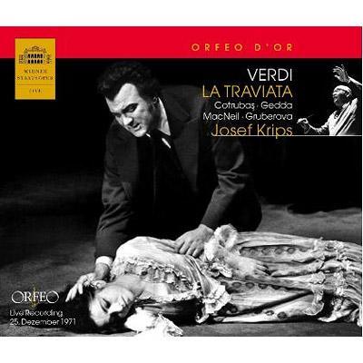 『トラヴィアータ』全曲 コトルバス、ゲッダ、マックニール、クリップス&ウィーン国立歌劇場(1971 ステレオ)