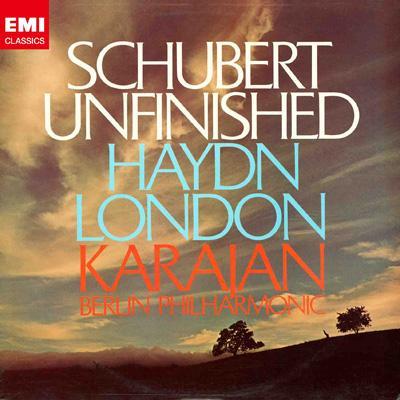 シューベルト:交響曲第8番『未完成』、ハイドン:交響曲第104番『ロンドン』 カラヤン&ベルリン・フィル(1975)