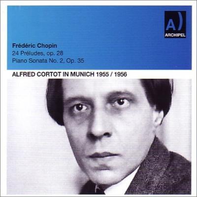 24の前奏曲、ピアノ・ソナタ第2番、即興曲集 コルトー(1955、56、34年)