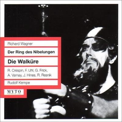 『ワルキューレ』全曲 ケンペ&バイロイト、クレスパン、ヴァルナイ、ハインズ、他(1961 モノラル)(3CD)