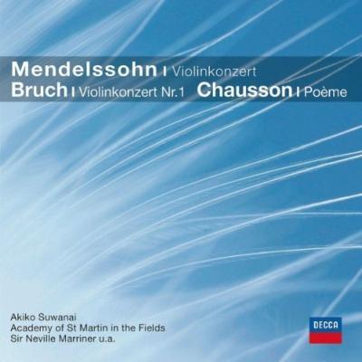 メンデルスゾーン:ヴァイオリン協奏曲、ブルッフ:ヴァイオリン協奏曲第1番、ショーソン:詩曲 諏訪内晶子、アシュケナージ、マリナー、デュトワ指揮