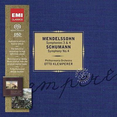 メンデルスゾーン:交響曲第3番、第4番、フィンガルの洞窟、シューマン:交響曲第4番 クレンペラー&フィルハーモニア管(2SACD限定盤)