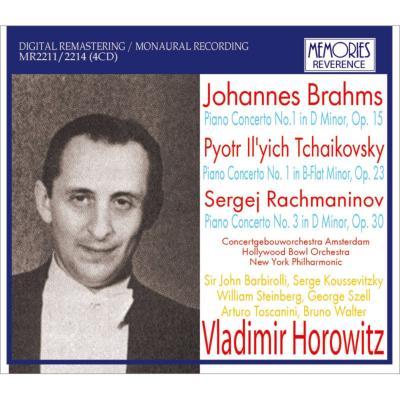 『ホロヴィッツ、協奏曲ライヴ集〜ブラームス、チャイコフスキー、ラフマニノフ』 トスカニーニ、バルビローリ、ワルター、セル、他(1935−53)(4CD)