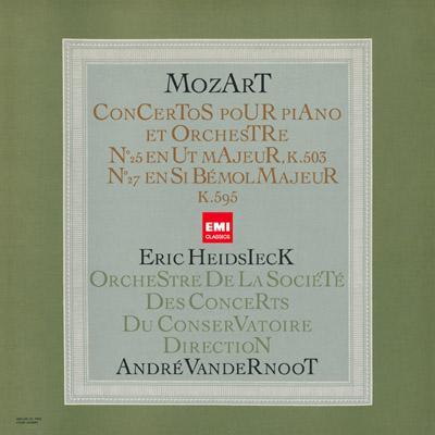 Piano Concertos Nos.25, 27 : Heidsieck(P)Vandernoot / Paris Conservatory Orchestra