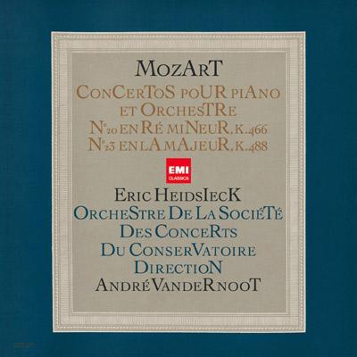 ピアノ協奏曲第20番、第23番 ハイドシェック、ヴァンデルノート&パリ音楽院管(限定盤)