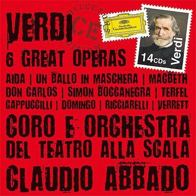 『アイーダ』全曲、『仮面舞踏会』全曲、『ドン・カルロ』全曲、『ファルスタッフ』全曲、『マクベス』全曲、『シモン・ボッカネグラ』全曲 アバド指揮(14CD)