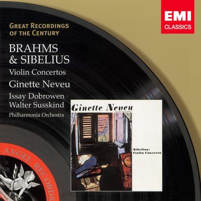 Brahms Violin Concerto, Sibelius Violin Concerto : Neveu(Vn)Dobrowen / Susskind / Philharmonia